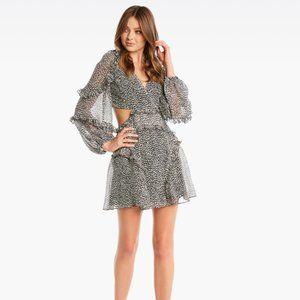 BARDOT Mini Leopard Cut Out Dress